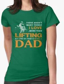 LIFTING DAD Womens Fitted T-Shirt