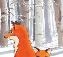 Fox family Sticker