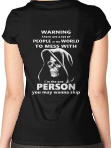 WARNING !!! Women's Fitted Scoop T-Shirt