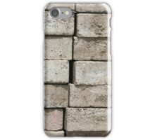 Gray Brick Background iPhone Case/Skin
