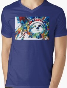 Colorful Statue Of Liberty - Sharon Cummings Mens V-Neck T-Shirt