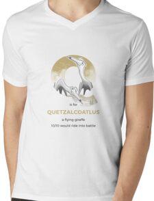Q is for Quetzalcoatlus Mens V-Neck T-Shirt