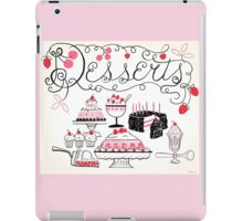 Sweet And Lovely Desserts iPad Case/Skin