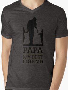 papa - my best friend Mens V-Neck T-Shirt