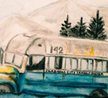 Into the Wild Magic Bus Painting Sticker