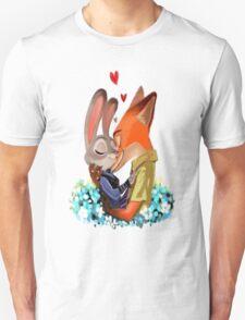 judy zootopia  fox love Unisex T-Shirt