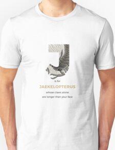 J is for Jaekelopterus Unisex T-Shirt