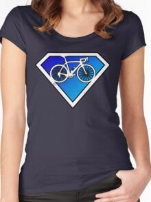Super Cyclists Only Logo Women's Fitted Scoop T-Shirt