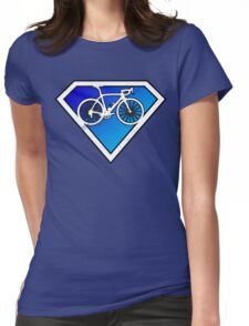Super Cyclists Only Logo Womens Fitted T-Shirt