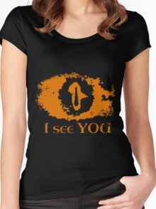 Eye of Sauron - I see you Women's Fitted Scoop T-Shirt