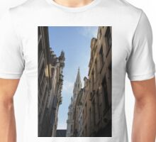 Catching a Glimpse of Grand Place, Brussels, Belgium  Unisex T-Shirt