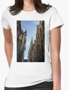 Catching a Glimpse of Grand Place, Brussels, Belgium  Womens Fitted T-Shirt