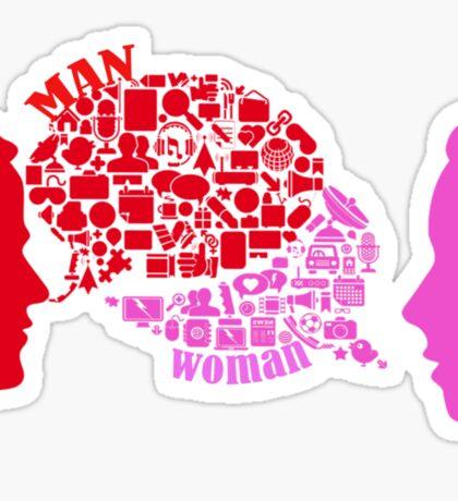 man & woman Sticker