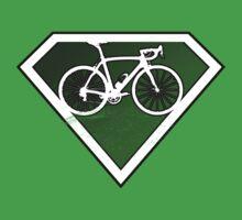Super Green Cyclists Logo Kids Tee