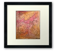 Abstract Ink and Watercolor Framed Print