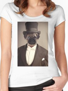 (Very) Distinguished Dog Women's Fitted Scoop T-Shirt