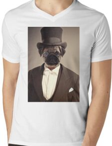 (Very) Distinguished Dog Mens V-Neck T-Shirt