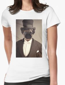 (Very) Distinguished Dog Womens Fitted T-Shirt