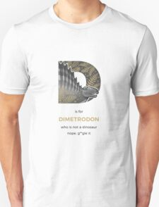 D is for Dimetrodon Unisex T-Shirt