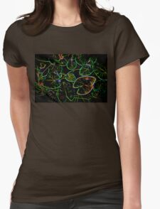 Lily Pads Fractal Womens Fitted T-Shirt