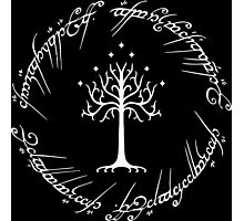 White Tree of Gondor (Ring) Photographic Print