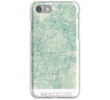 Mexico City Map Blue Vintage iPhone Case/Skin