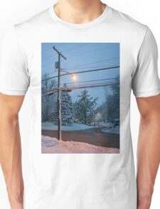 Winter Dusk Street Light  Unisex T-Shirt