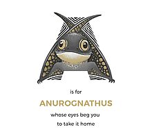 A is for Anurognathus Photographic Print