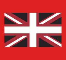 Union Jack Pop Art (White, Red & Black) Baby Tee
