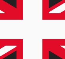 Union Jack Pop Art (White, Red & Black) Sticker