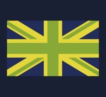Union Jack Pop Art (Green, Yellow & Blue) Kids Clothes