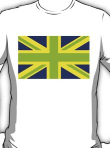 Union Jack Pop Art (Green, Yellow & Blue) T-Shirt