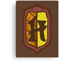 Hufflepuff House Crest 1 Canvas Print