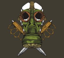 Gas Mask and Trench Knife  by ZugArt