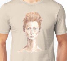 Tilda Red Head Face Portrait Drawing Unisex T-Shirt