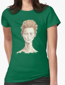 Tilda Red Head Face Portrait Drawing Womens Fitted T-Shirt