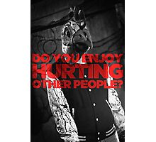 Hotline Miami: Do You Enjoy Hurting Other People? Photographic Print