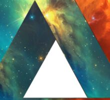 Abstract Geometry: Penrose Nebula (Fire Red/Orange/Blue) Sticker