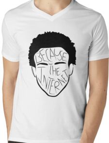 Because The Internet - Black Mens V-Neck T-Shirt