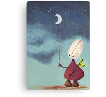 Catch a moon Canvas Print