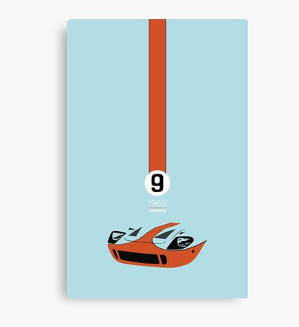 1968 Race Winning #9 Racecar Canvas Print