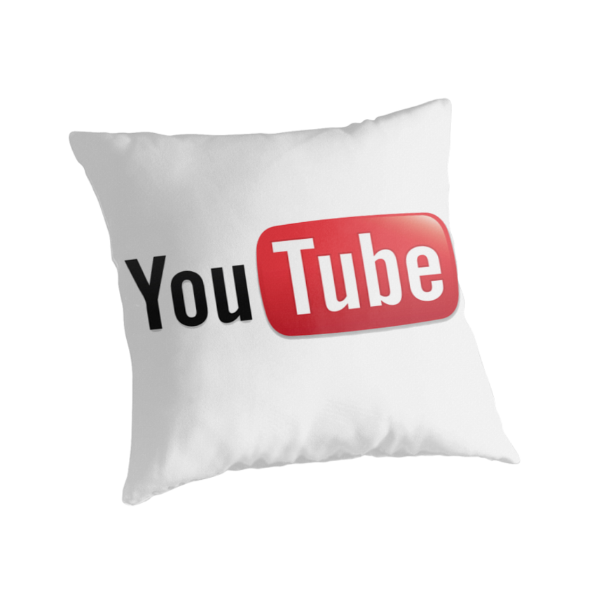 "Youtube Logo Pillow"" Throw Pillows by kellyponies 