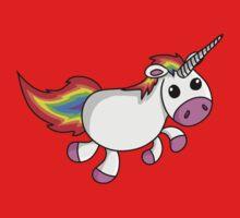 Cute Cartoon Unicorn Kids Tee