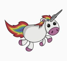 Cute Cartoon Unicorn One Piece - Short Sleeve