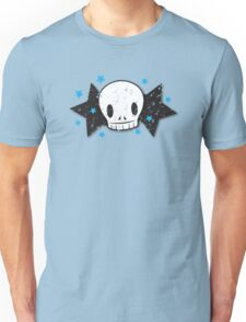 Skull with stars distressed version Unisex T-Shirt