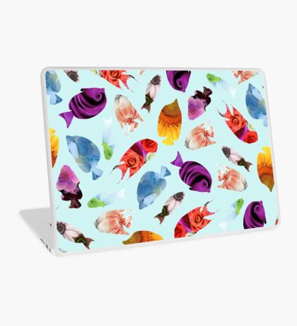 Fish shaped Flowers Laptop Skin