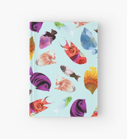 Fish shaped Flowers Hardcover Journal