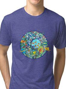 Fish Party Tri-blend T-Shirt