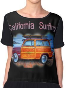California Surfing Chiffon Top