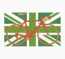 Bike Flag United Kingdom (Green) (Big - Highlight) Kids Clothes